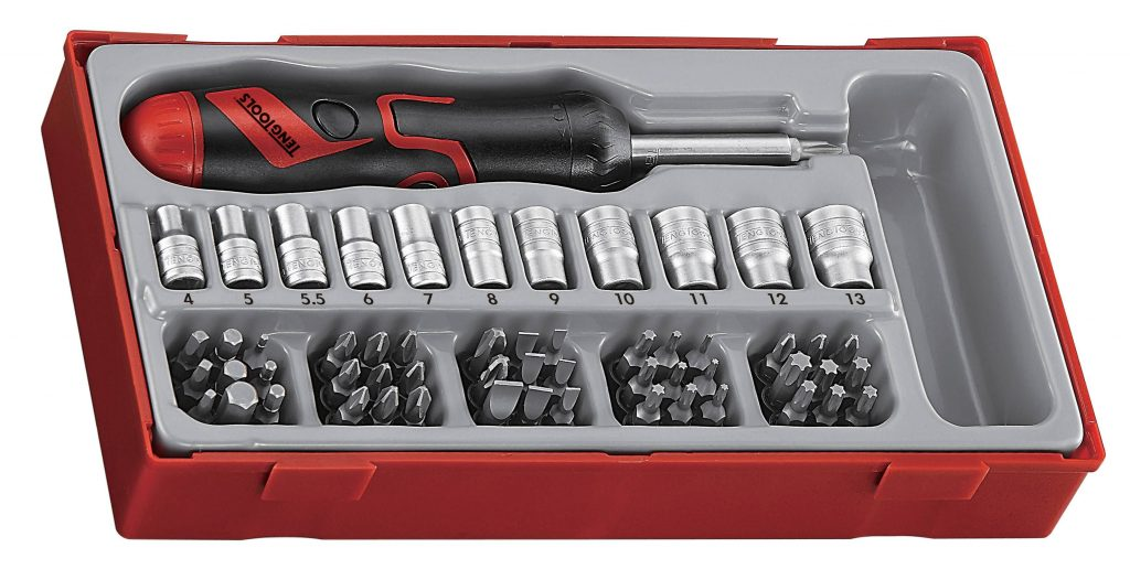 Teng Tools TTMDRT64 64 Piece Angled Ratcheting Bits Driver Set Review